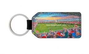 leigh sports villa PU Leather Keyring Printed Both Sides